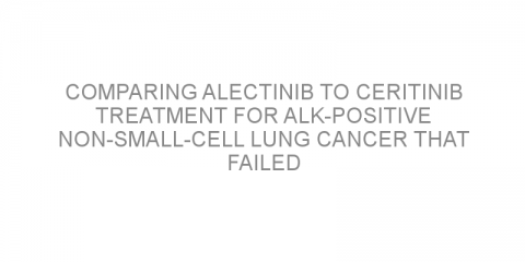 Comparing alectinib to ceritinib treatment for ALK-positive non-small-cell lung cancer that failed after crizotinib treatment