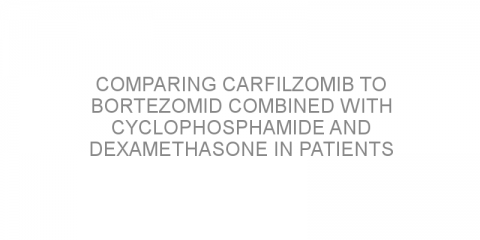 Comparing carfilzomib to bortezomid combined with cyclophosphamide and dexamethasone in patients with previously treated multiple myeloma