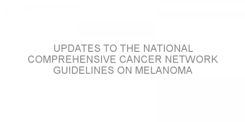 Updates to the National Comprehensive Cancer Network guidelines on melanoma