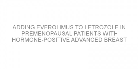 Adding everolimus to letrozole in premenopausal patients with hormone-positive advanced breast cancer