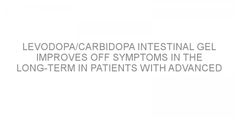 Levodopa/carbidopa intestinal gel improves off symptoms in the long-term in patients with advanced Parkinson´s disease