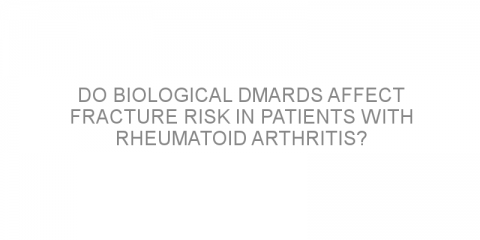 Do biological DMARDs affect fracture risk in patients with rheumatoid arthritis?