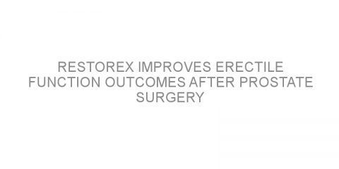 RestoreX improves erectile function outcomes after prostate surgery