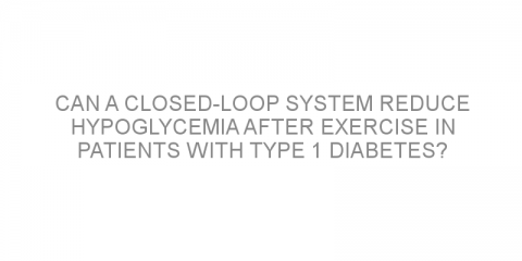 Can a closed-loop system reduce hypoglycemia after exercise in patients with type 1 diabetes?