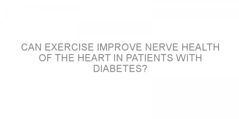 Can exercise improve nerve health of the heart in patients with diabetes?