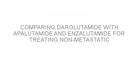 Comparing darolutamide with apalutamide and enzalutamide for treating non-metastatic castration-resistant prostate cancer.