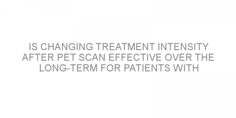 Is changing treatment intensity after PET scan effective over the long-term for patients with advanced-stage Hodgkin lymphoma?