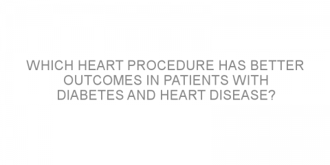 Which heart procedure has better outcomes in patients with diabetes and heart disease?