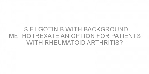 Is filgotinib with background methotrexate an option for patients with rheumatoid arthritis?