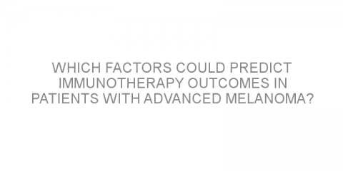 Which factors could predict immunotherapy outcomes in patients with advanced melanoma?
