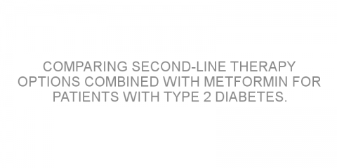 Comparing second-line therapy options combined with metformin for patients with type 2 diabetes.