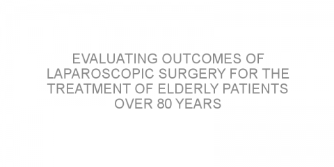 Evaluating outcomes of laparoscopic surgery for the treatment of elderly patients over 80 years with colorectal cancer.