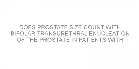 Does prostate size count with bipolar transurethral enucleation of the prostate in patients with benign prostatic hyperplasia?