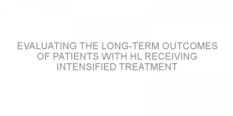 Evaluating the long-term outcomes of patients with HL receiving intensified treatment