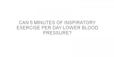 Can 5 minutes of inspiratory exercise per day lower blood pressure?