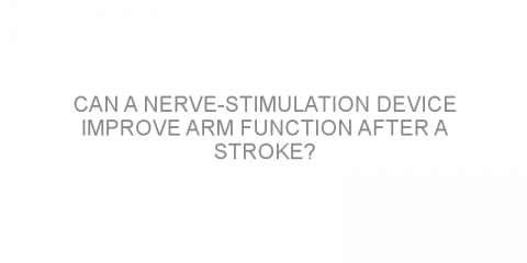Can a nerve-stimulation device improve arm function after a stroke?
