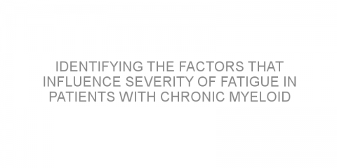 Identifying the factors that influence severity of fatigue in patients with chronic myeloid leukemia treated with targeted therapy.