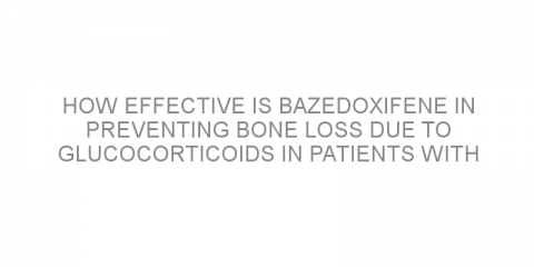 How effective is bazedoxifene in preventing bone loss due to glucocorticoids in patients with rheumatoid arthritis?