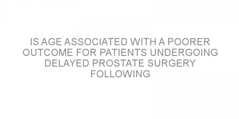 Is age associated with a poorer outcome for patients undergoing delayed prostate surgery following active surveillance?