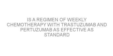 Is a regimen of weekly chemotherapy with trastuzumab and pertuzumab as effective as standard treatment options for HER2-positive breast cancer