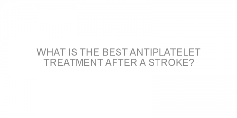 What is the best antiplatelet treatment after a stroke?