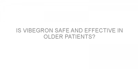 Is vibegron safe and effective in older patients?