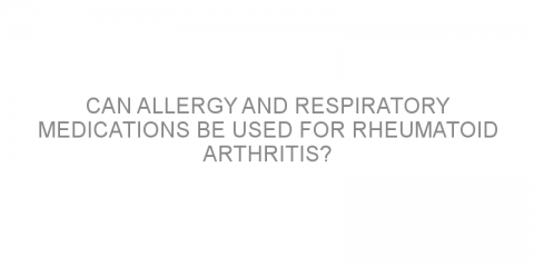 Can allergy and respiratory medications be used for rheumatoid arthritis?