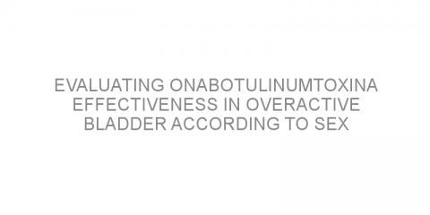 Evaluating onabotulinumtoxinA effectiveness in overactive bladder according to sex