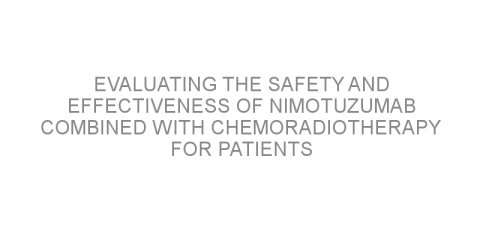 Evaluating the safety and effectiveness of nimotuzumab combined with chemoradiotherapy for patients with squamous cell lung cancer.