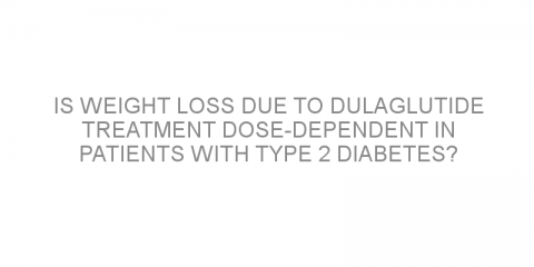 Is weight loss due to dulaglutide treatment dose-dependent in patients with type 2 diabetes?