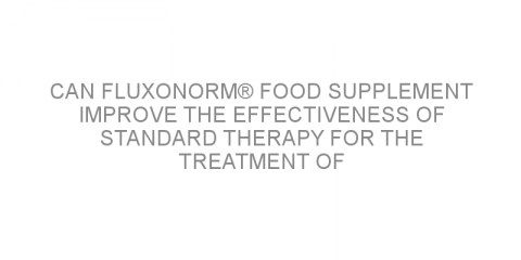 Can Fluxonorm® food supplement improve the effectiveness of standard therapy for the treatment of lower urinary tract symptoms?