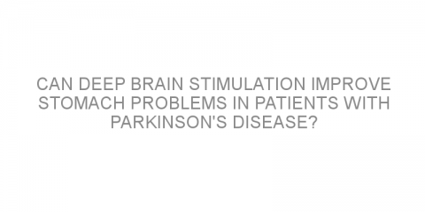 Can deep brain stimulation improve stomach problems in patients with Parkinson's disease?