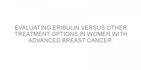Evaluating eribulin versus other treatment options in women with advanced breast cancer.