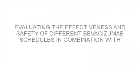 Evaluating the effectiveness and safety of different bevacizumab schedules in combination with chemotherapy for the treatment of patients with metastatic colorectal cancer.