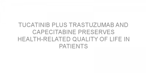 Tucatinib plus trastuzumab and capecitabine preserves health-related quality of life in patients with metastatic HER2-positive breast cancer.