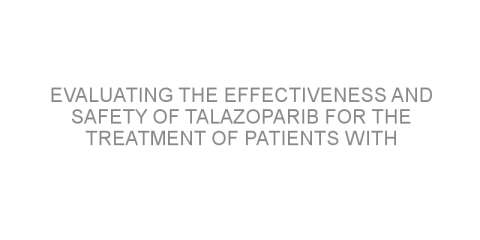 Evaluating the effectiveness and safety of talazoparib for the treatment of patients with metastatic castration-resistant prostate cancer.