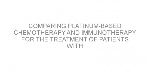 Comparing platinum-based chemotherapy and immunotherapy for the treatment of patients with early-stage triple negative breast cancer.