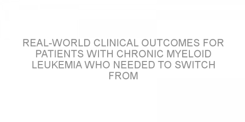 Real-world clinical outcomes for patients with chronic myeloid leukemia who needed to switch from second generation TKI therapy.