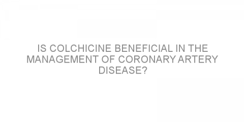 Is colchicine beneficial in the management of coronary artery disease?