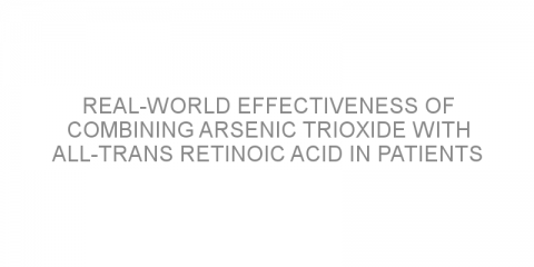 Real-world effectiveness of combining arsenic trioxide with all-trans retinoic acid in patients with acute promyelocytic leukemia.