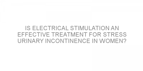 Is electrical stimulation an effective treatment for stress urinary incontinence in women?