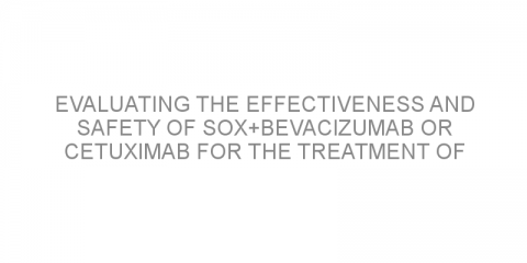 Evaluating the effectiveness and safety of SOX+bevacizumab or cetuximab for the treatment of patients with advanced colorectal cancer with wild-type KRAS.
