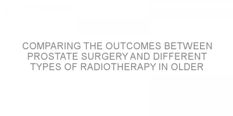 Comparing the outcomes between prostate surgery and different types of radiotherapy in older patients with prostate cancer.
