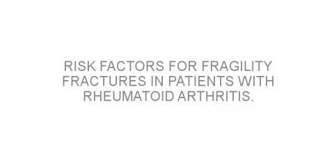 Risk factors for fragility fractures in patients with rheumatoid arthritis.