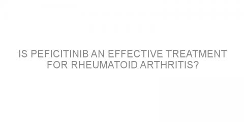 Is peficitinib an effective treatment for rheumatoid arthritis?