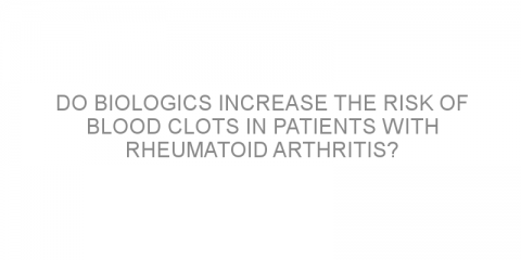 Do biologics increase the risk of blood clots in patients with rheumatoid arthritis?