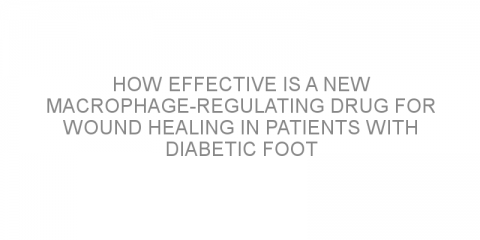 How effective is a new macrophage-regulating drug for wound healing in patients with diabetic foot ulcers?