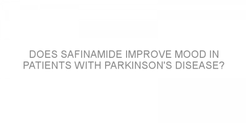 Does safinamide improve mood in patients with Parkinson's disease?