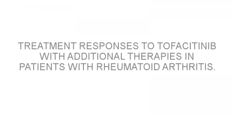 Treatment responses to tofacitinib with additional therapies in patients with rheumatoid arthritis.