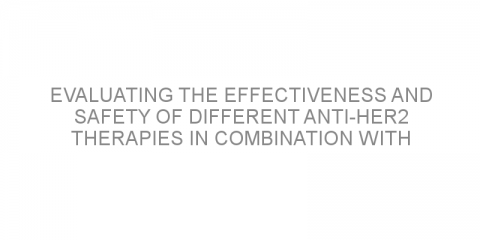 Evaluating the effectiveness and safety of different anti-HER2 therapies in combination with chemotherapy for metastatic HER2-positive breast cancer.